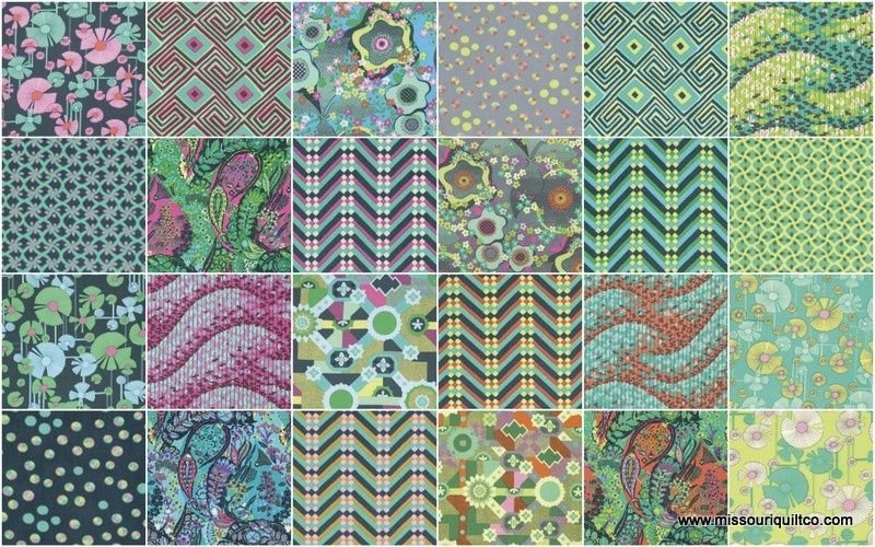 Fabric Cotton Glow Collection by Amy Butler 24 Fat Quarter Cuts - copy