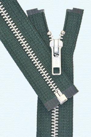 YKK Loose Package Heavyweight Aluminum Separating Metal Zipper 26'' Green