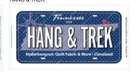 Row by Row Plate 2020 License plate Hang & Trek