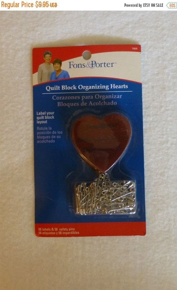 Fons & Porter Quilt Block Organizing Hearts