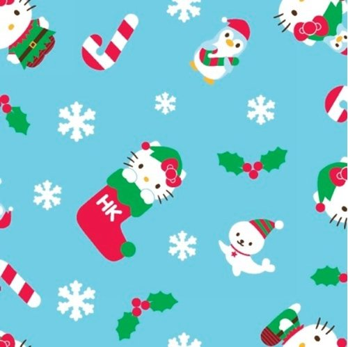 Fabric 100% Cotton Hello Kitty Winter Toss