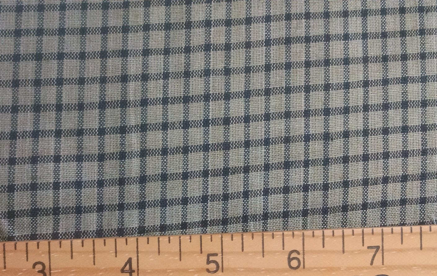 Fabric Cotton Homespun Green and Black Plaid 60 100% Cotton