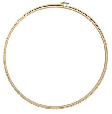 round wooden embroidery hoop 8 inch diameter