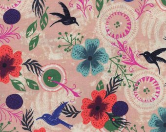 Cotton + Steel Sarah Watts Morning Dew Dusty Pink HoneyMoon Collection 100% Cotton  Fabric Cotton