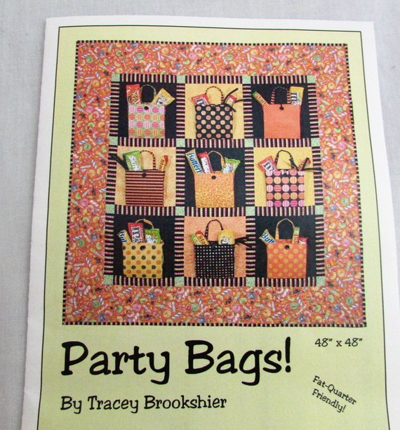 PARTY BAGS! by Tracey Brookshire 07717C Fat Quarter Friendly Brookshire Studio
