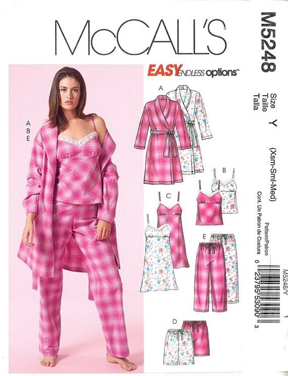 MISSES SLEEPWEAR SEWING PATTERN by McCall's M5248 -Z Size Lrg-Xlg