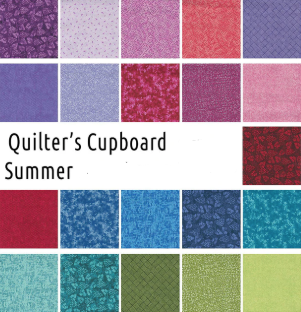 Quilters Cupboard Summer  LOLLI POPS 2.5 STRIPS 40 Pieces River's Bend