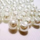 Crafts Ivory round pearl 6mm 48 pcs