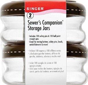 Singer Sewer's Companion Storage Jars by Singer 2 stacking jars