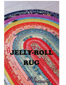 Pattern Jelly-Roll Rug by RJ Designs