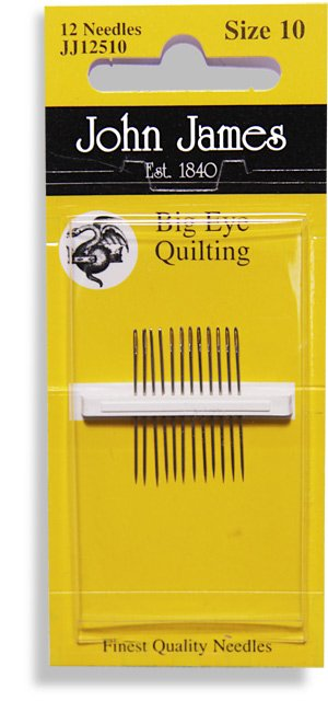 John James Big Eye Quilting Needle Embroidery Eye Size 10
