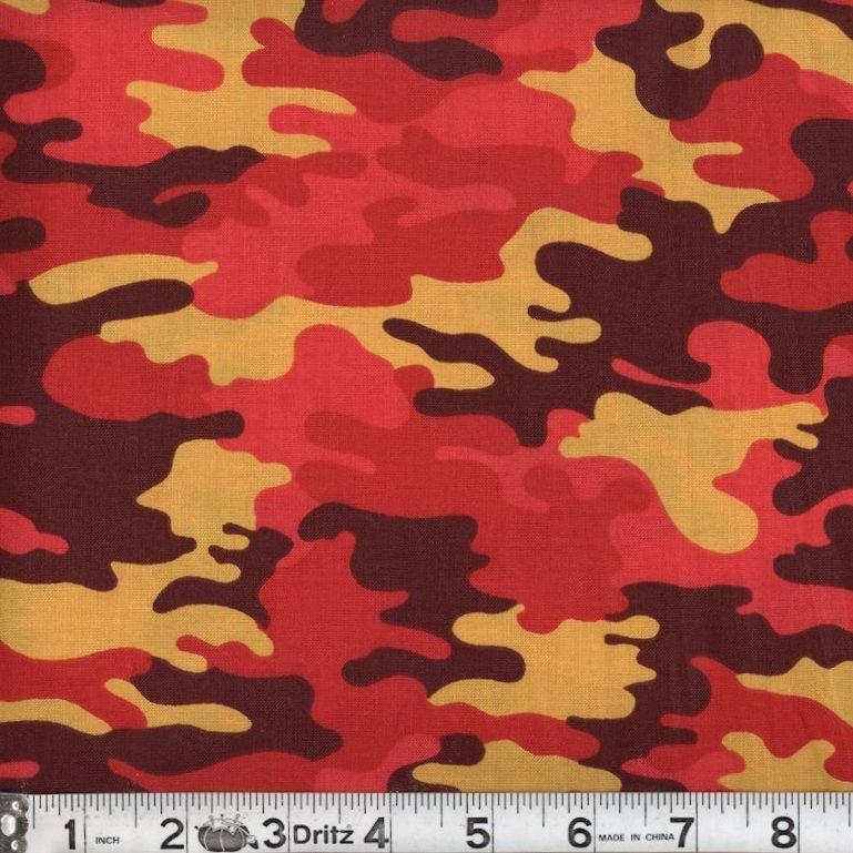 Kickin Camo - Blaze 07 Camouflage Marshall Dry Goods 44/45 100% Cotton - copy - copy - copy - copy - copy - copy - copy