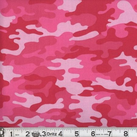 Kickin Camo 08 Hot Pink Camouflage Marshall Dry Goods 44/45 100% Cotton