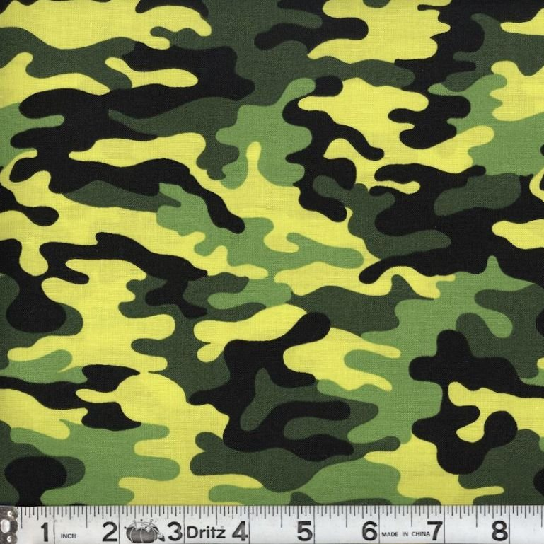 Remnant 21x WOF Kickin Camo - Neon Green 06 Camouflage Marshall Dry Goods 44/45 100% Cotton