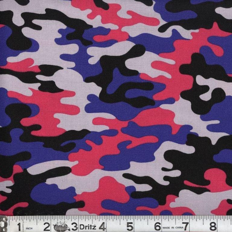 Kickin Camo - Psychedelic 05 Camouflage Marshall Dry Goods 44/45 100% Cotton - copy - copy - copy - copy - copy