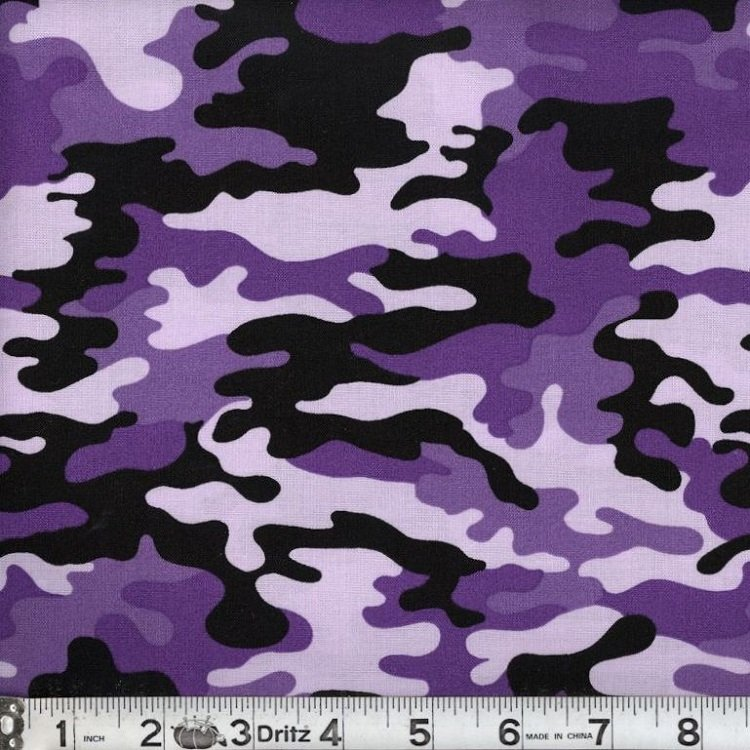 Kickin Camo - Black Purple 09 Camouflage Marshall Dry Goods 44/45 100% Cotton - copy
