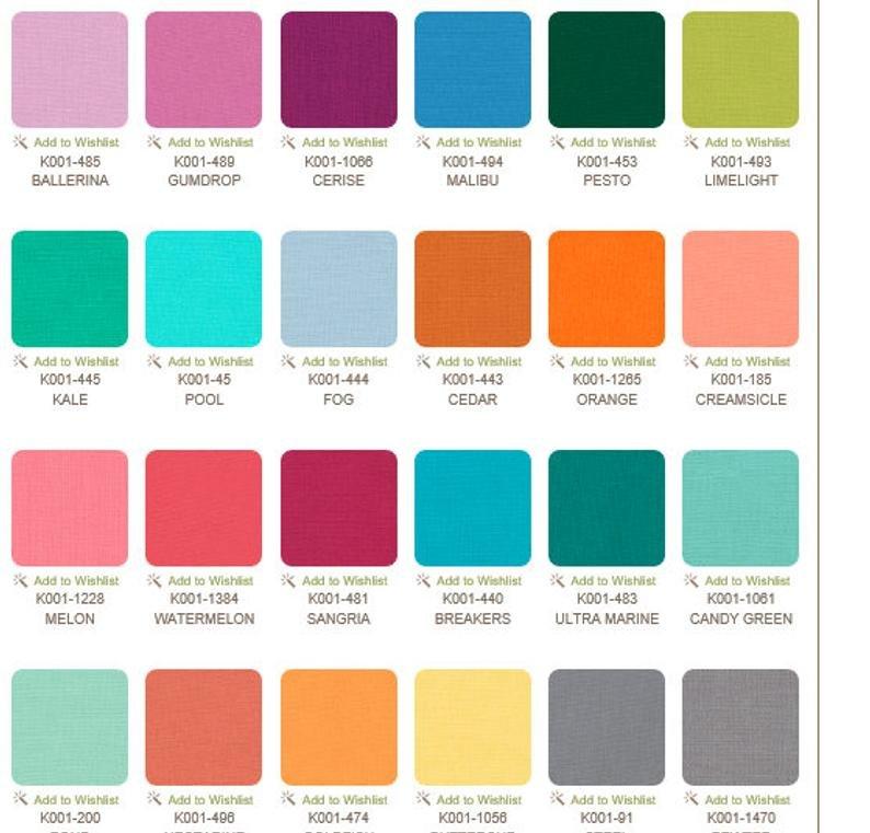Kona 100% Cotton Jelly Roll 40 strips 2 1/2 (2.8 yds) Emily Cier Palette #RU 381-40