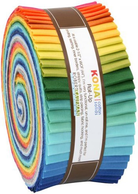 Kona 100% Cotton Skinny Roll 40 strips 1 1/2 (1.666 yds) Summer 13 New Colors # SS 109 40