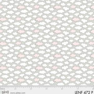 Fabric Cotton Flannel Les Enfantes Pink Clouds