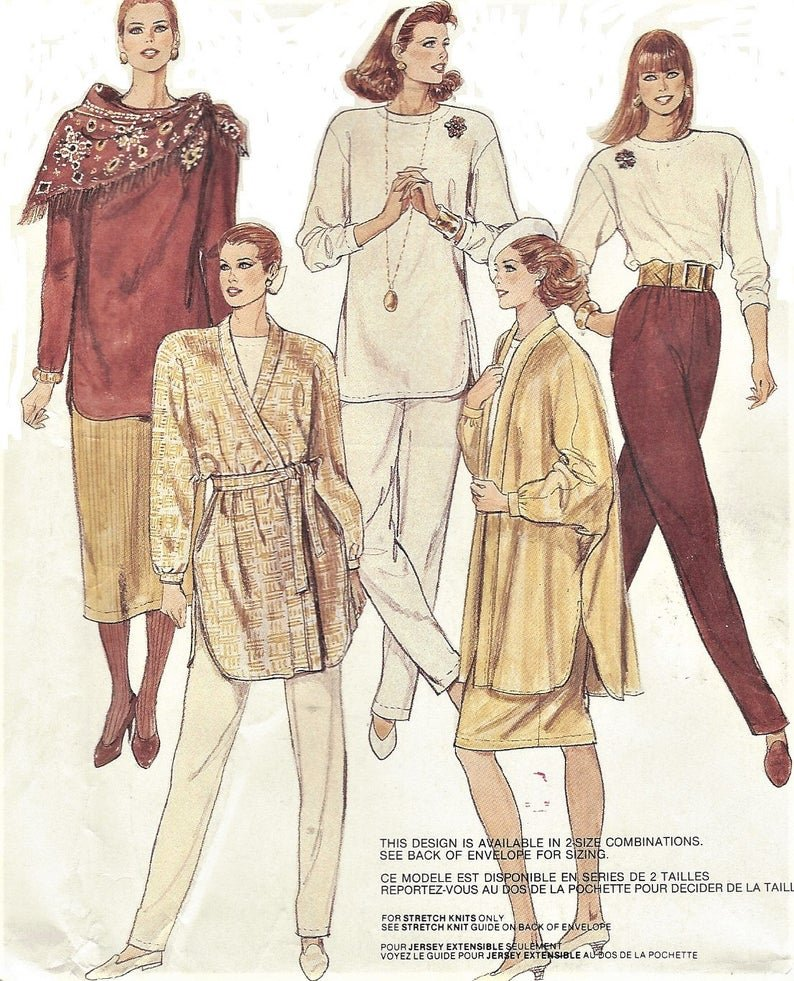 Misses Jacket and tie Belt, Tops, Skirts, and Pants VINTAGE McCall's Pattern 4512 Size (14-16)