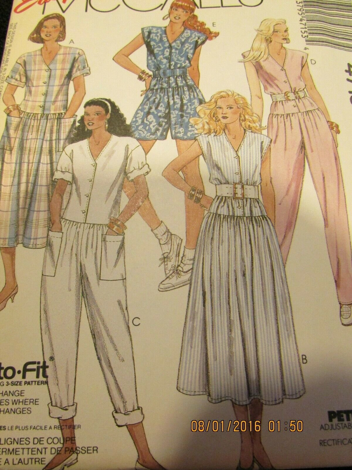 Misses Jumpsuit & Dress Vintage Easy McCall's Pattern Size (10-12-14)