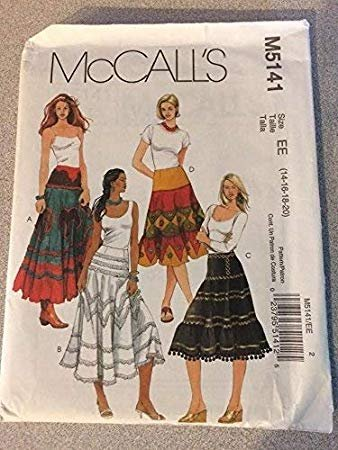 Misses skirts in two Lengths 2006 McCall Pattern 5141 14 Pieces Size (14-16-18-20)