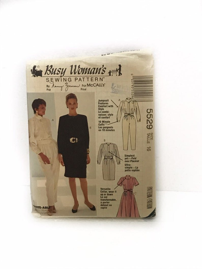 Misses Jumpsuit Dresses and Belt McCall's pattern 5529 Size 10