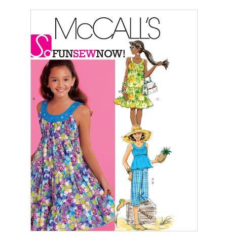 Girls Sundress Top Pants Mccalls Pattern 5798 Girl Sizes 7-14