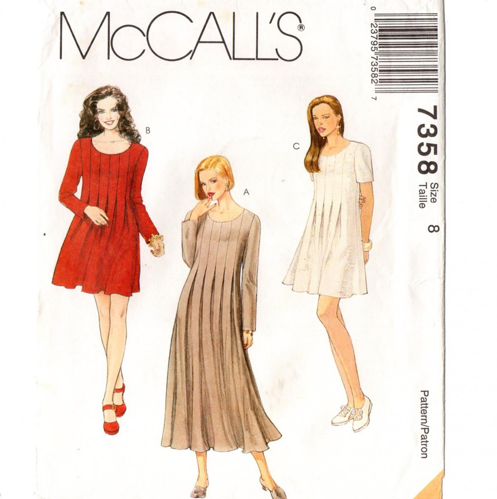Misses Dress In to lengths McCall's Pattern 7358 Size 14