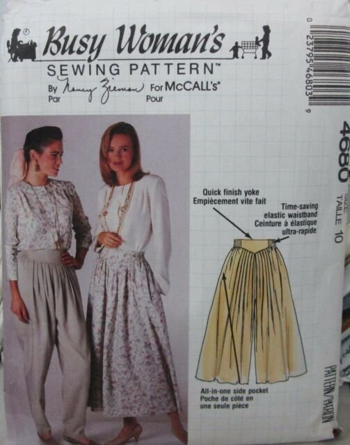 1990 McCall's Skirt & Pants Pattern 4680 Size 12