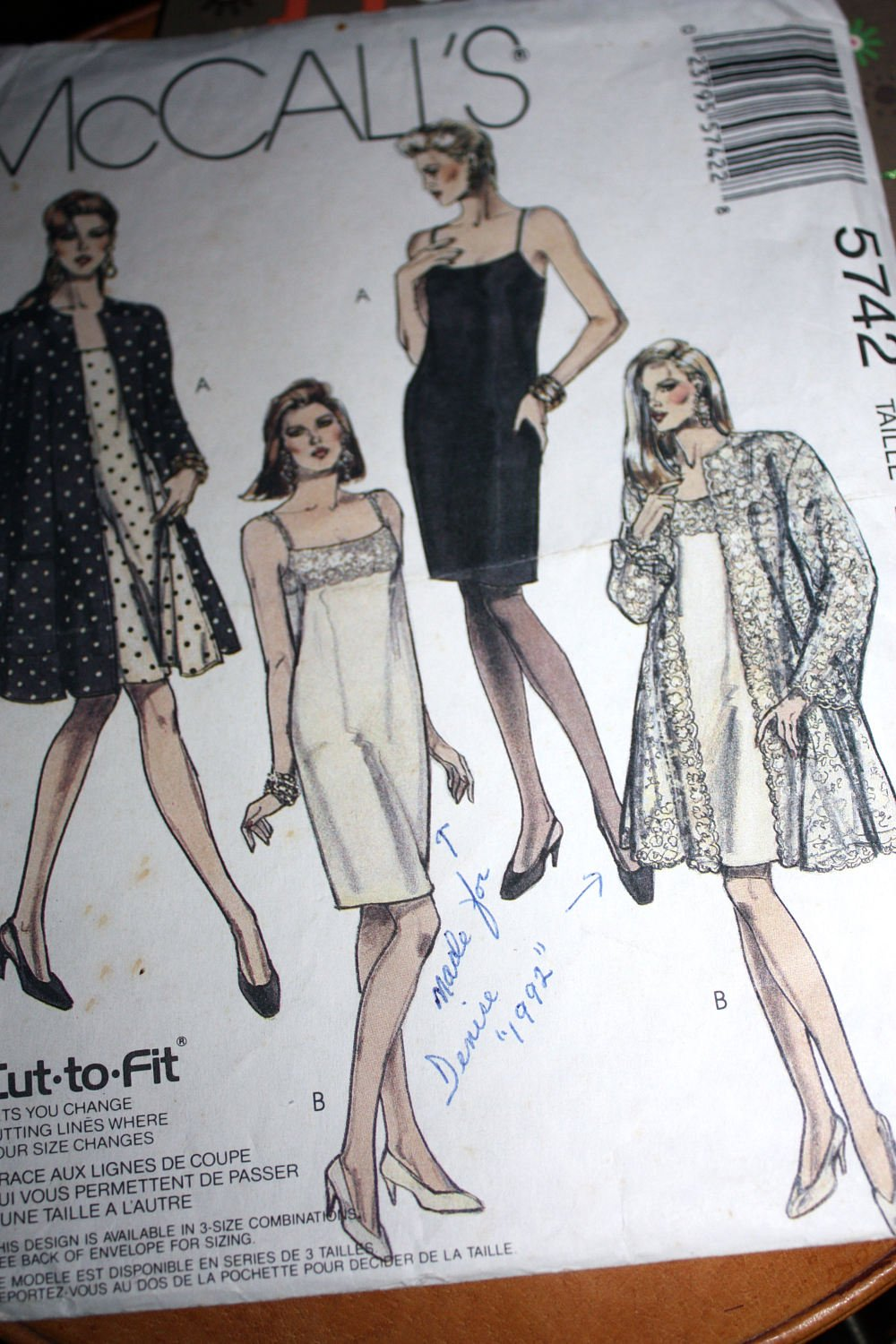 Misses Lined Coat and Dress McCall's Pattern Size (8-10-12)
