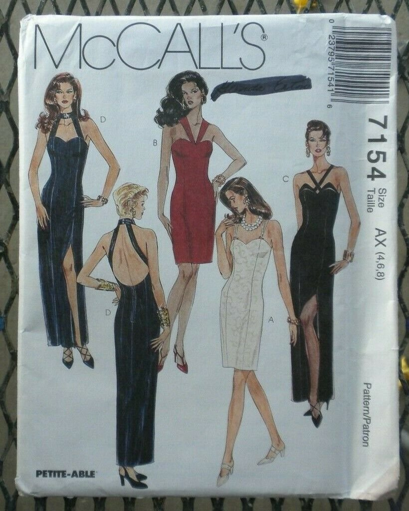 Misses Dress in two Lengths McCall's Pattern 7154 Size 4,6,8