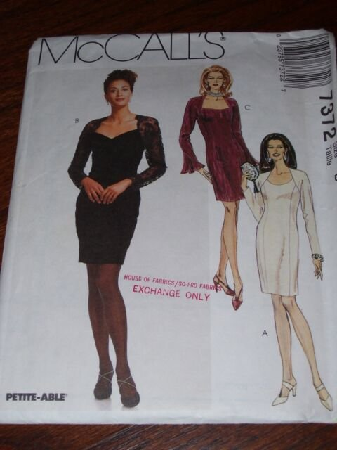 MISSES DRESS  PATTERN McCall's SIZES 8-10-12