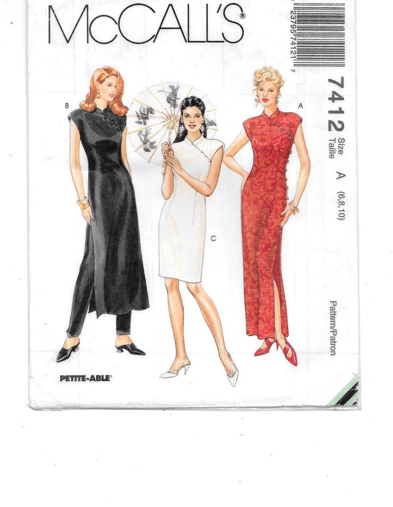 Misses Dress in Three Lengths and Pants McCall's Pattern 7412 Size 6,8,10