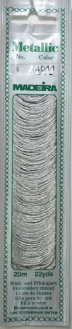 Embroidery Madeira Mouline Metallic No4 Spiral Pack of 20m Made in Germany 4011