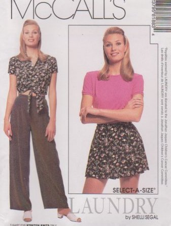 SHEILA SEGAL LAUNDRY OUTFIT McCall's SIZES 12-14-16