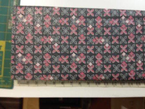 Fabric Cotton Choice Fabric Gray Pink Metallic Geo Floral 44/45''