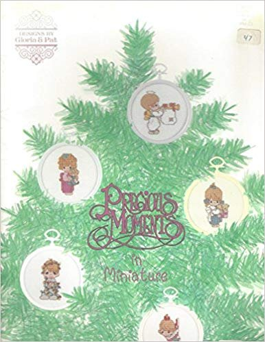 Pamphlet Charts for counted cross stitch Precious Moments Christmas ornaments