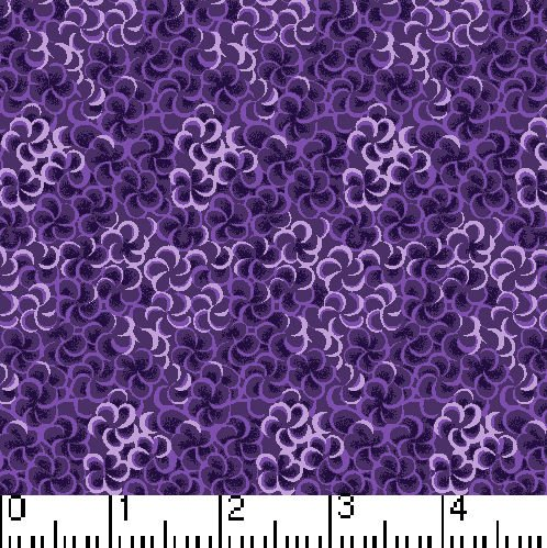 Remnant Fabric 100% Cotton 41 x WOF Marshall Dry Goods -Purple Wave  Mixers