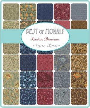 Fabric Mini Charm Pack 2 1/2 squares 42 count Moda Best of Morris