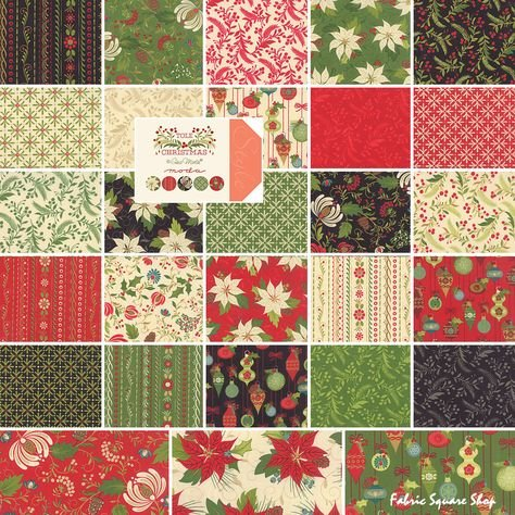 10 square pack 42 count Moda Tole Christmas Layer Cake