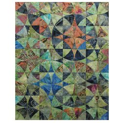 Kit Bali Print Wheel of Mystery Quilt