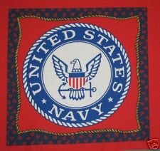 USA Patriotic Fabric Pillow Panel Navy SEAL CIRCLES 15 INCH DIAMETER