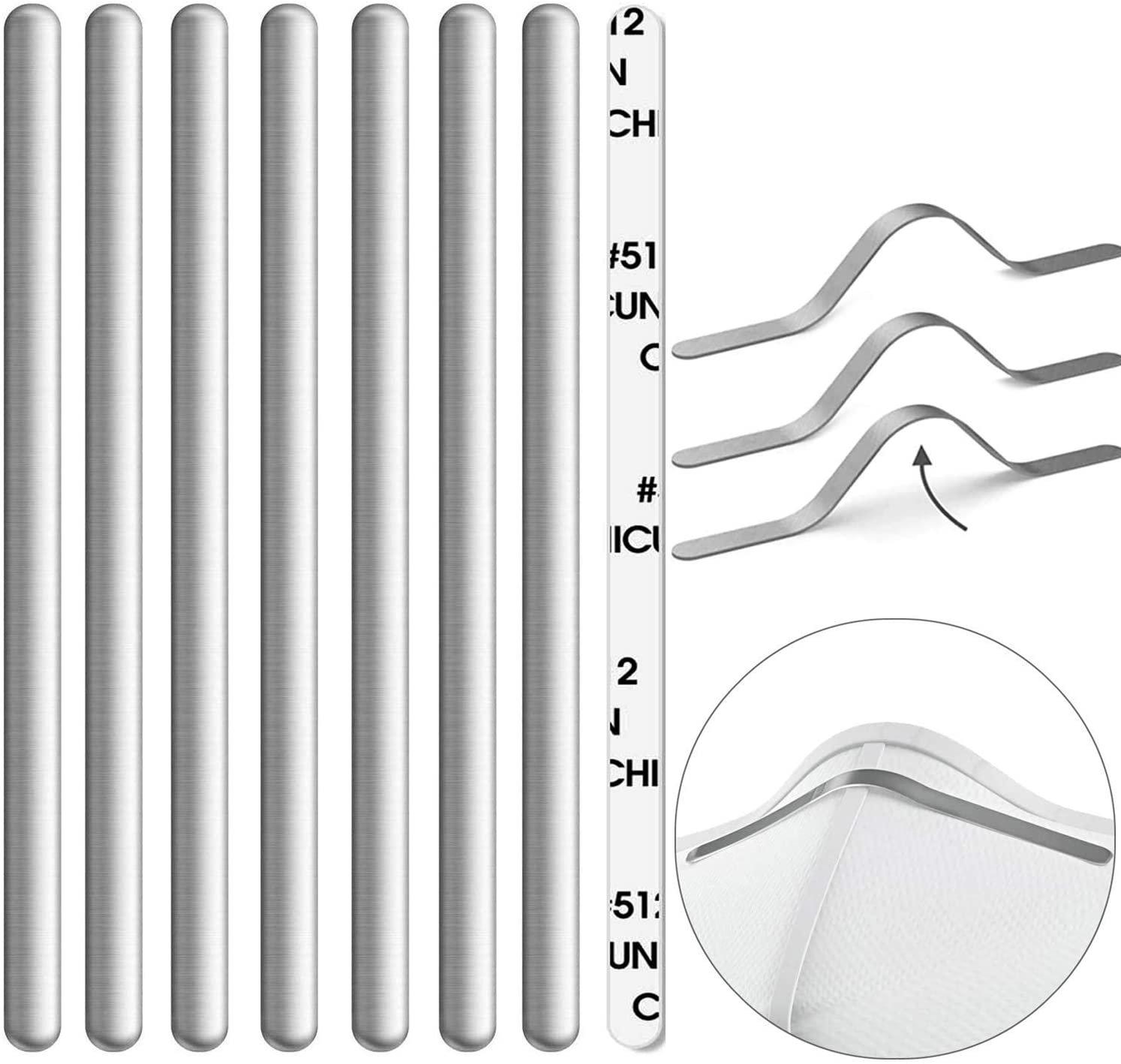 Aluminum Metal Nose Bridge Ties Wires Bendable Twist With Adhesive Back 85x5mm