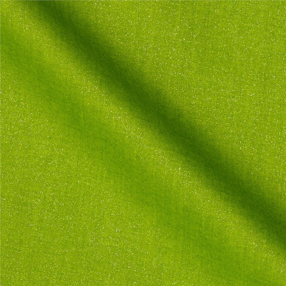 Remnant 26 x WOF Opalescence Lime Solid Metallic Print Windham 44/45 100% cotton