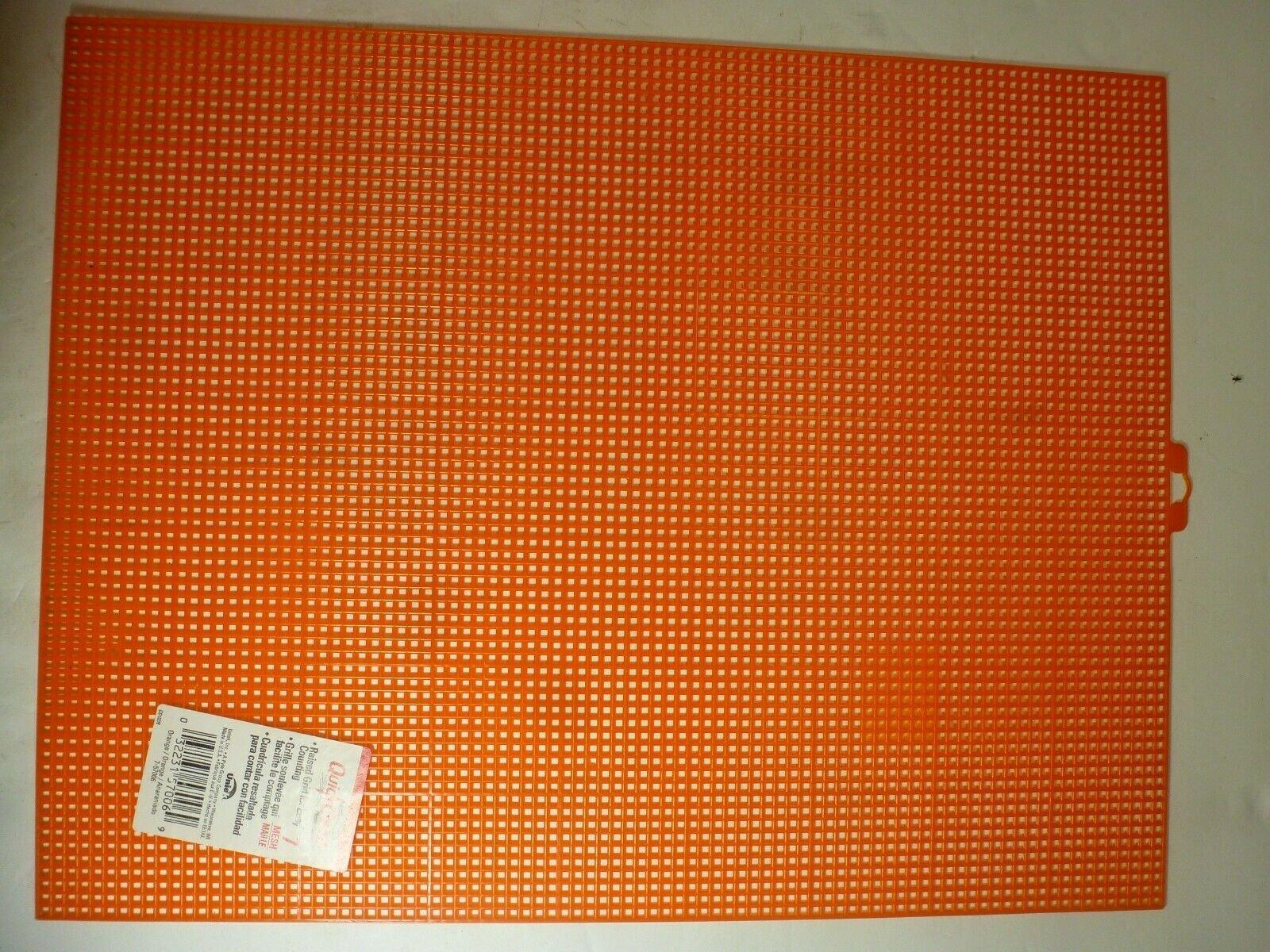 Plastic Canvas 7 mesh 10 1/2 x 13 1/2 Orange