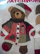 Doll Panel 36 x 44 Patchwork Christmas Bear by VIP Fabric Panel