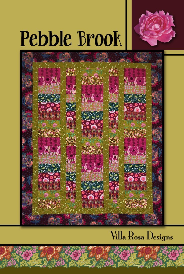 Pebble Brooke Quilt Pattern Villa Rosa Designs by Pat Fryer