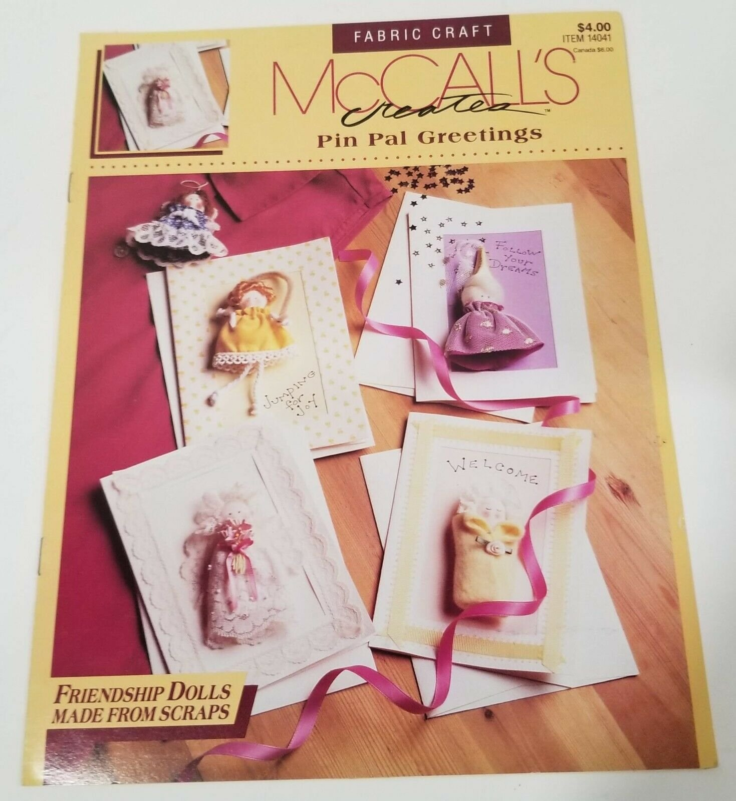 Pin Gal Greetings by McCall's Creates - Friendship Dolls Made from scraps