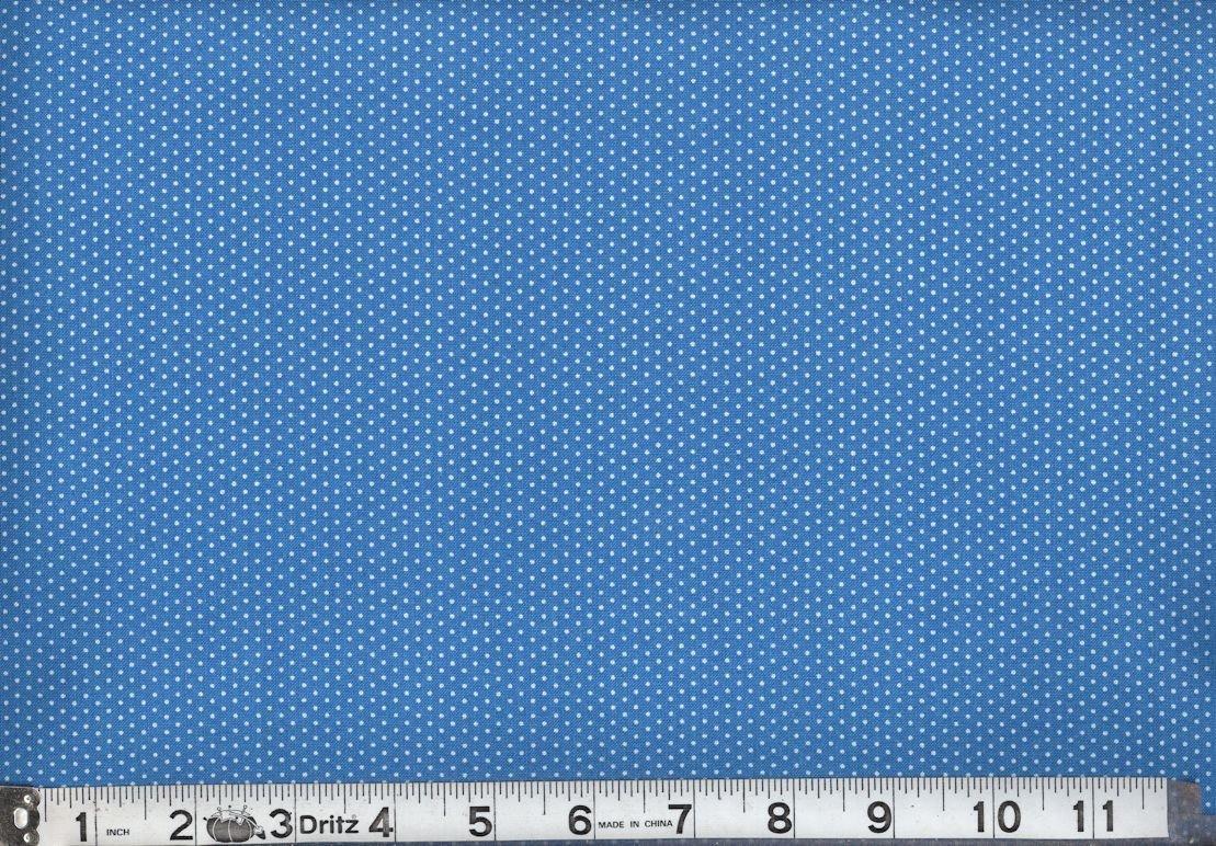 Pindot Turquoise Marshall Dry Goods Mini Dot Micro Dot Polka Dots 44'' COTTON -